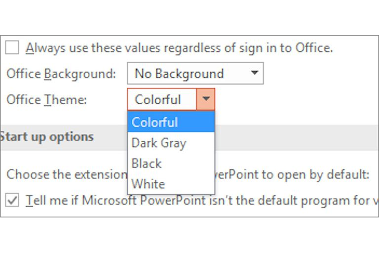 MS Office Personalization options