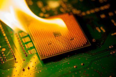 motherboard processor in flames