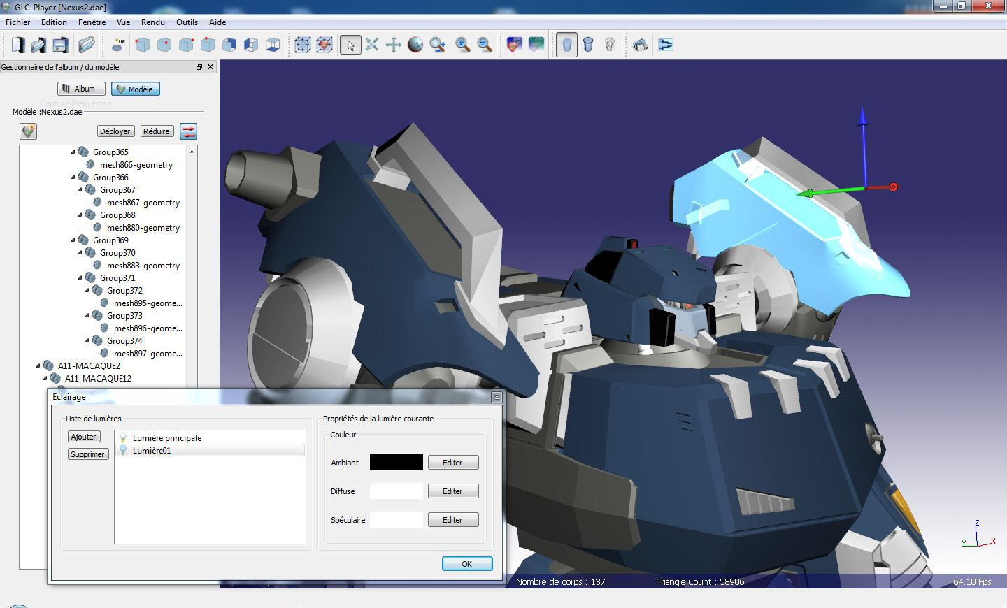 GLC_Player STL viewing and modeling software
