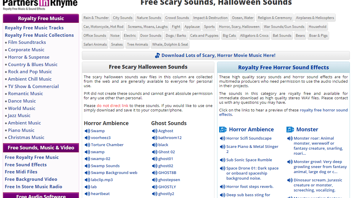 Halloween 2020 Soundtrack Download Free 9 Best Places to Find Spooky Halloween Sounds