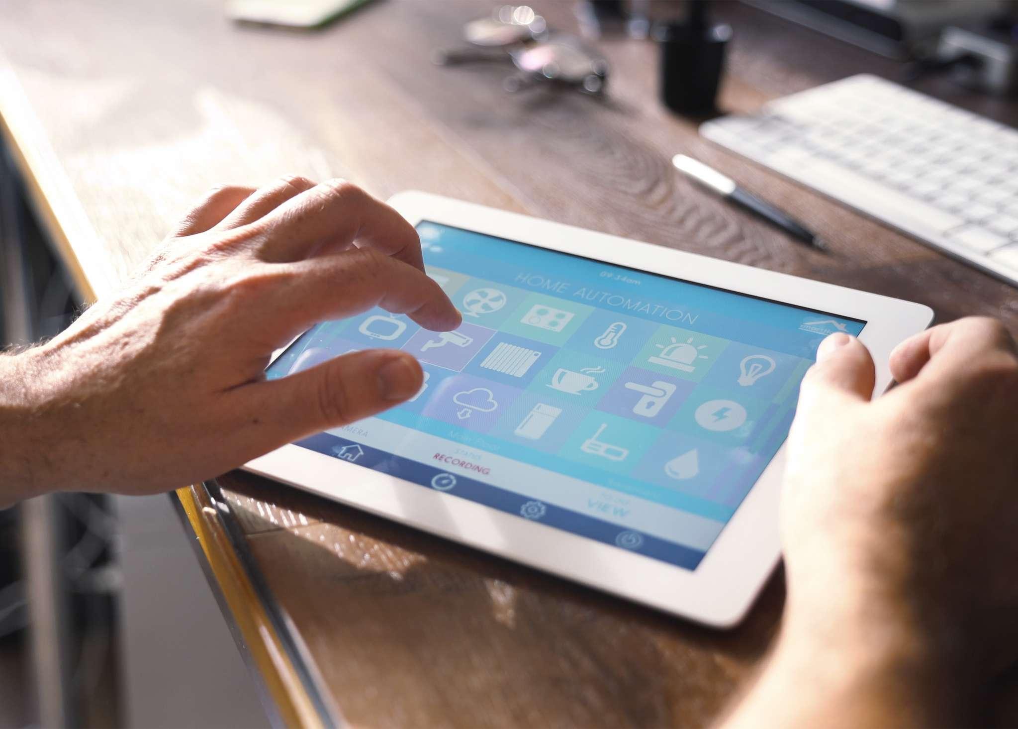 Cropped Hand Holding Digital Tablet