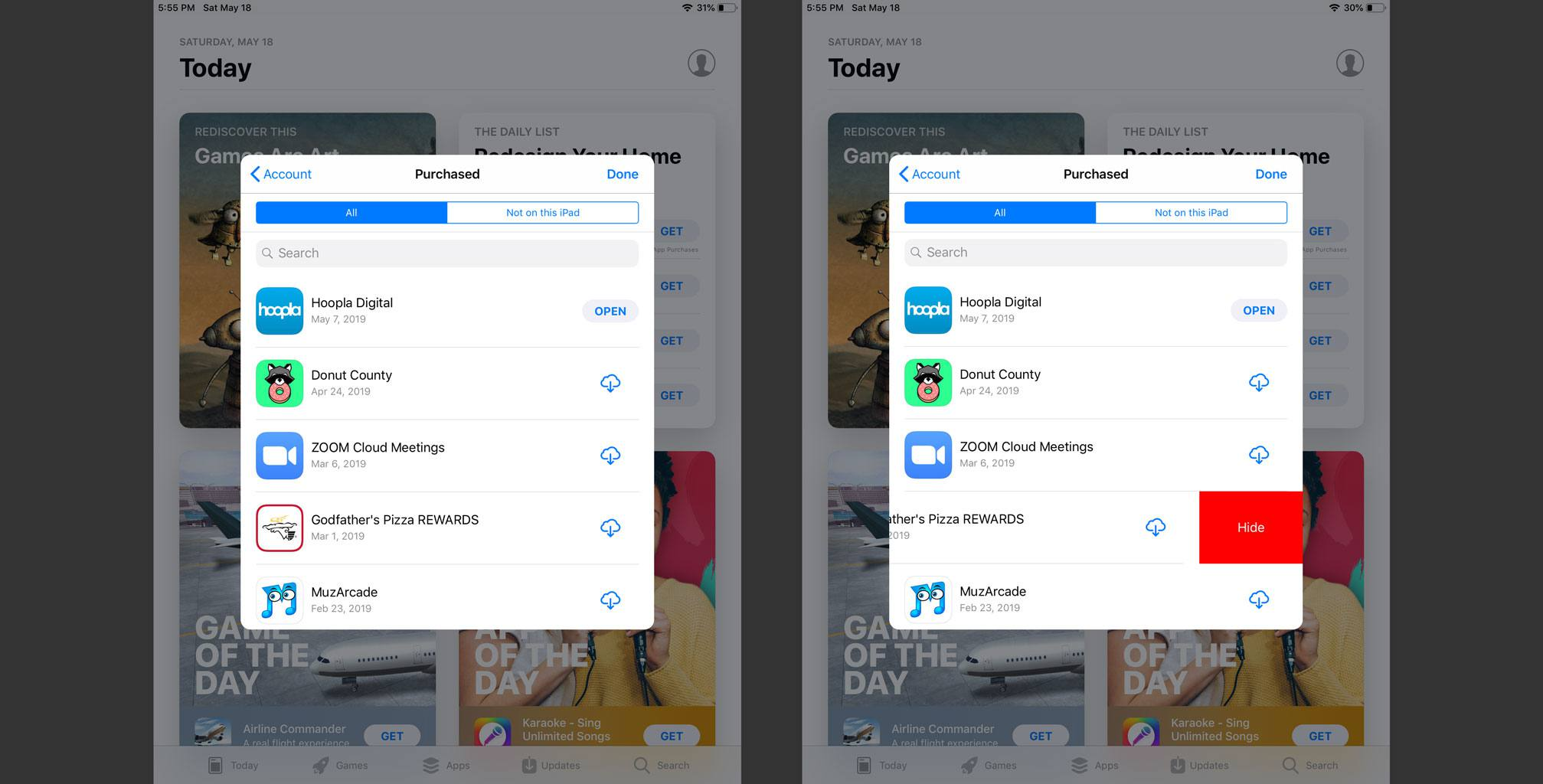 How to Hide Apps in the iPhone or iPad's Purchased List
