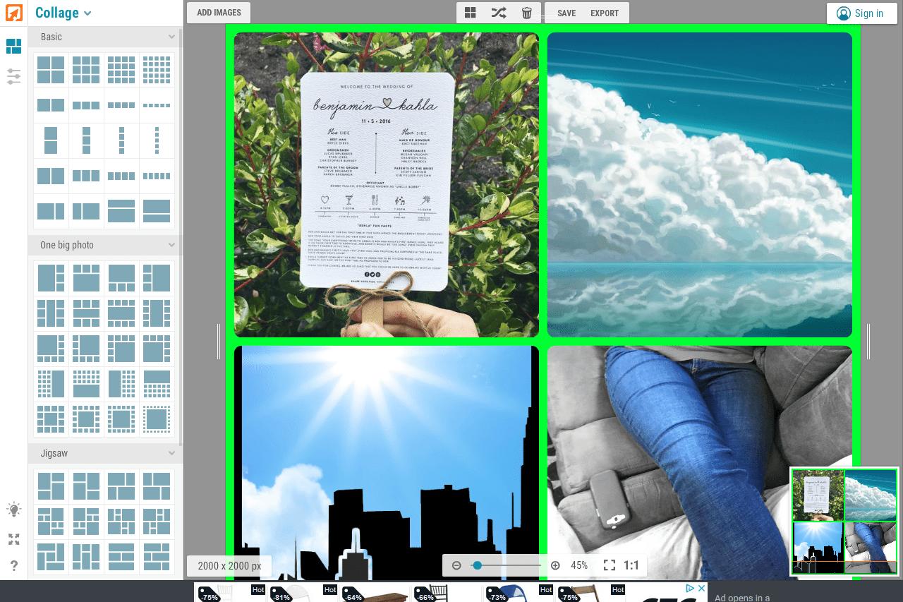 iPiccy collage example