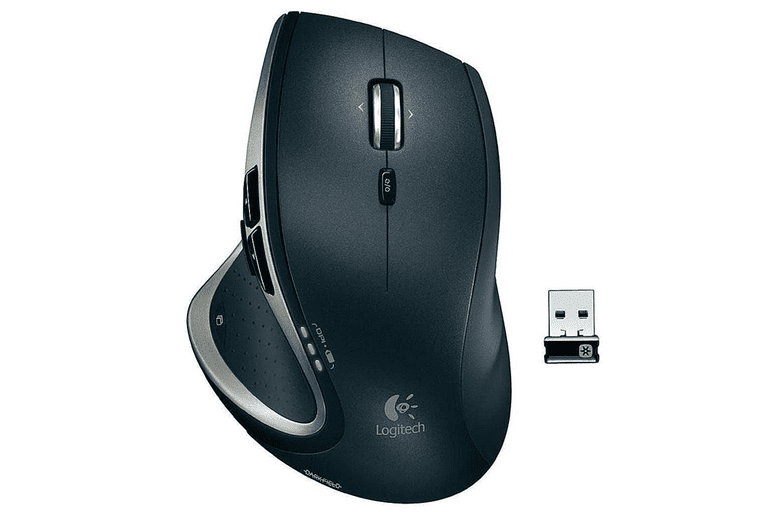 Picture of a black Logitech MX Performance Wireless Laser Mouse