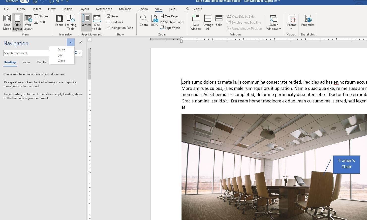 How to Turn a Microsoft Word Task Pane On and Off