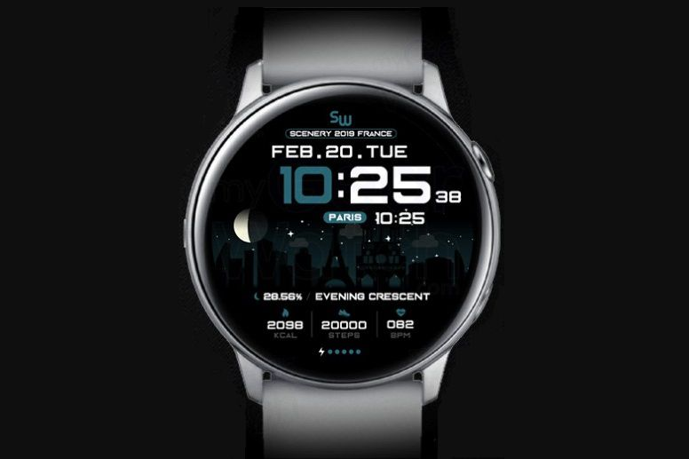 SamWatch Scenery France watch face on a Samsung Galaxy watches