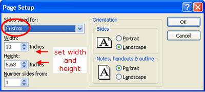 Show your powerpoint presentation in widescreen format choose the widescreen size format in powerpoint 2003 toneelgroepblik Choice Image