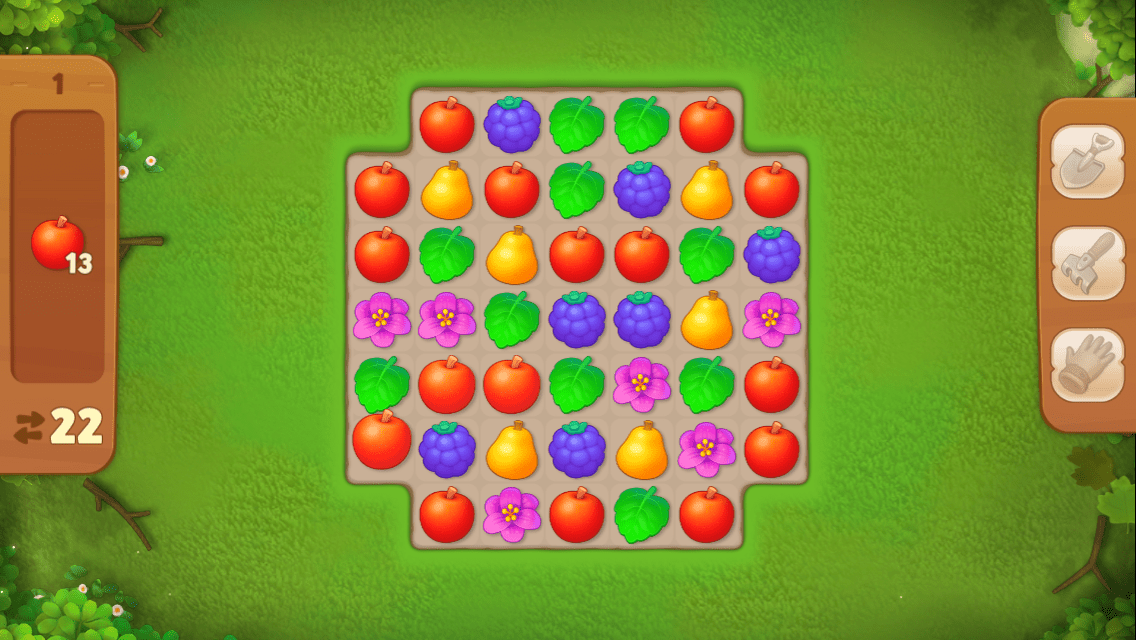 Gardenscapes is a match-3 puzzle game with some simulation elements