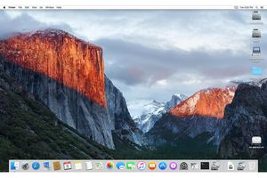 OS X El Capitan Desktop and Dock screenshot