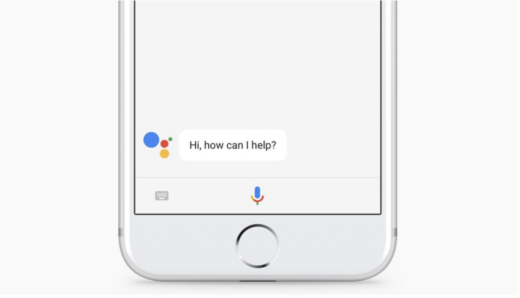 Response on a smartphone after saying OK Google