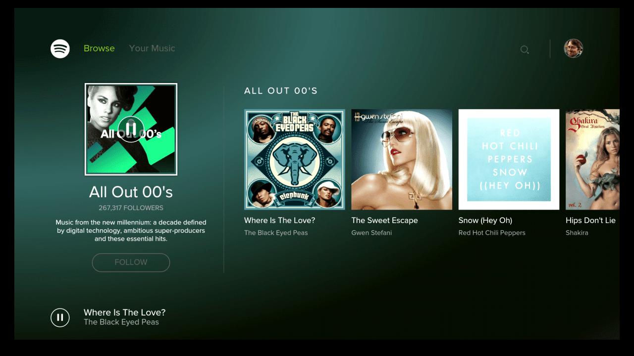 Spotify tv app
