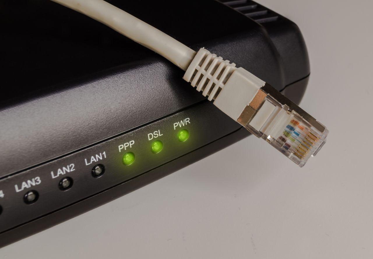 Image of modem power light