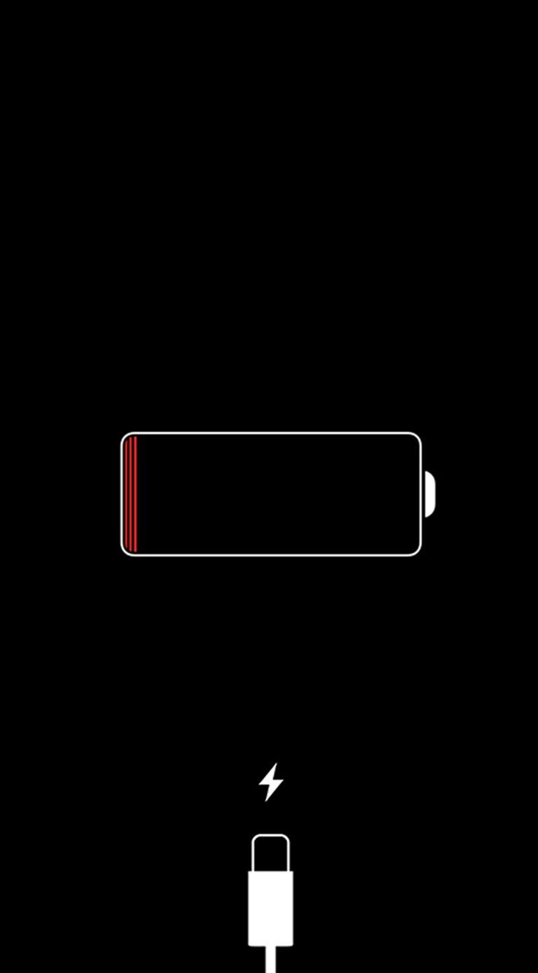 iPhone red battery icon