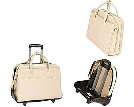 Mcklein 2 In 1 Detachable Willowbrook Wheeled Women S Briefcase