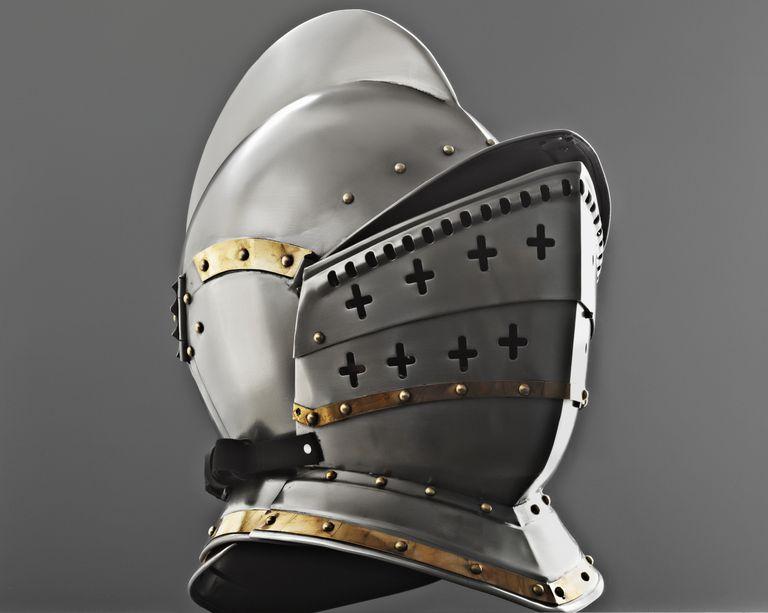 A medieval knight's helmet