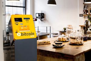 Bitcoin ATM in a cafe