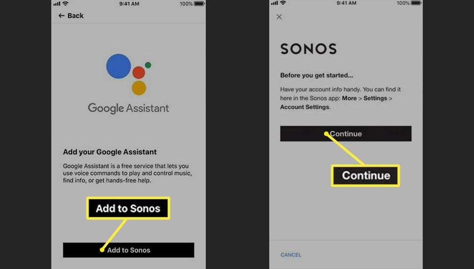 Sonos Add Your Google Assistant (Standard Sonos Devices)