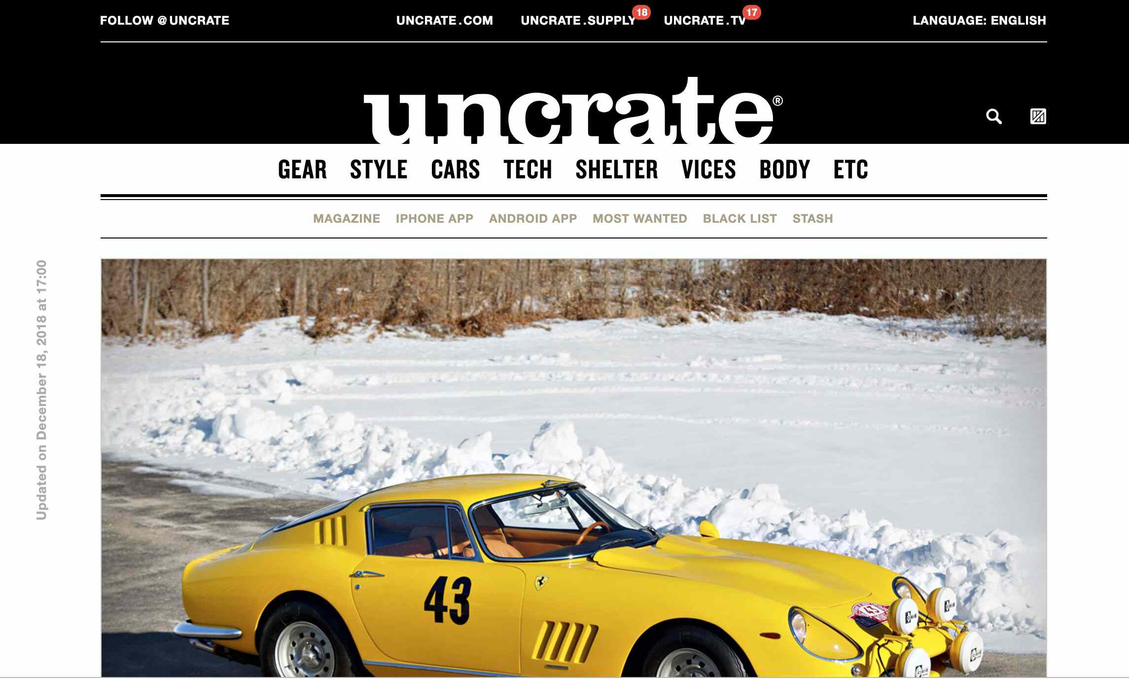 Uncrate homepage