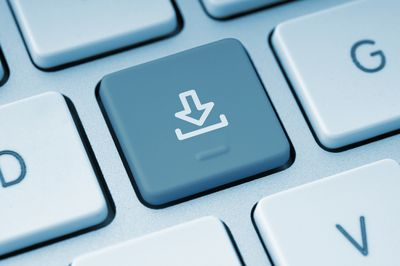 Image of a download key on a computer keyboard