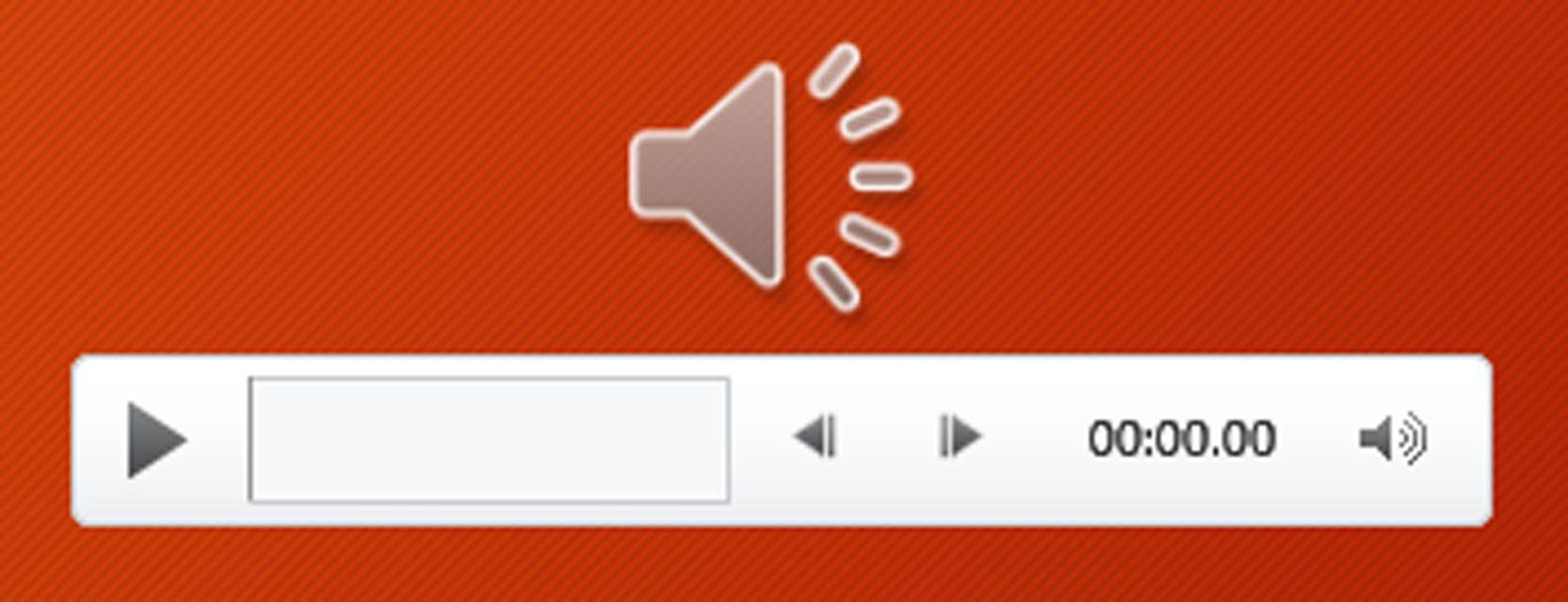 powerpoint audio icon