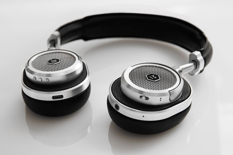 The Master & Dynamic MW50 on-ear headphones in black leather