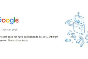Example 403 error as shown on a Google page