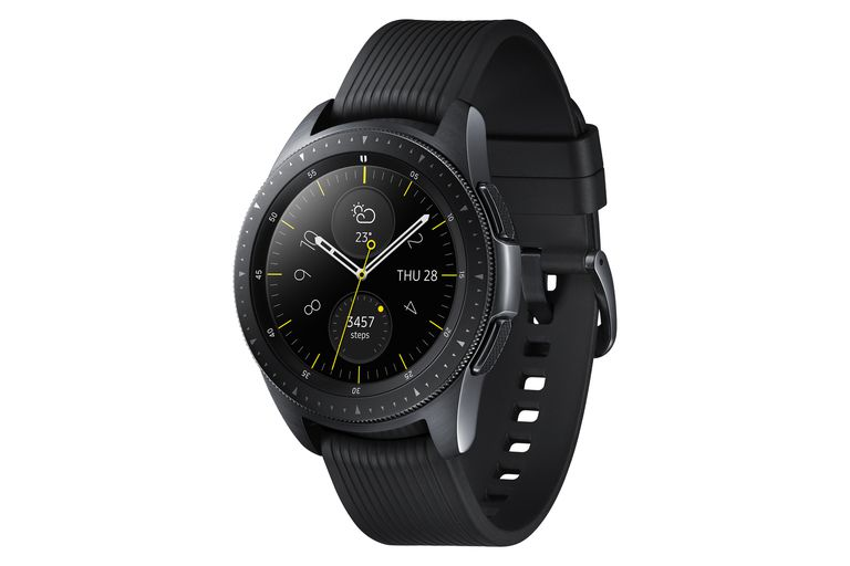 Black Samsung Galaxy Watch in 42mm size.