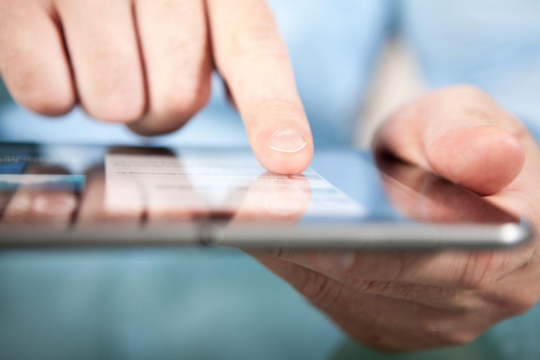 Finger Pointing on Digital Tablet