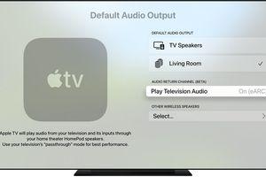 Apple TV 4K audio output settings page