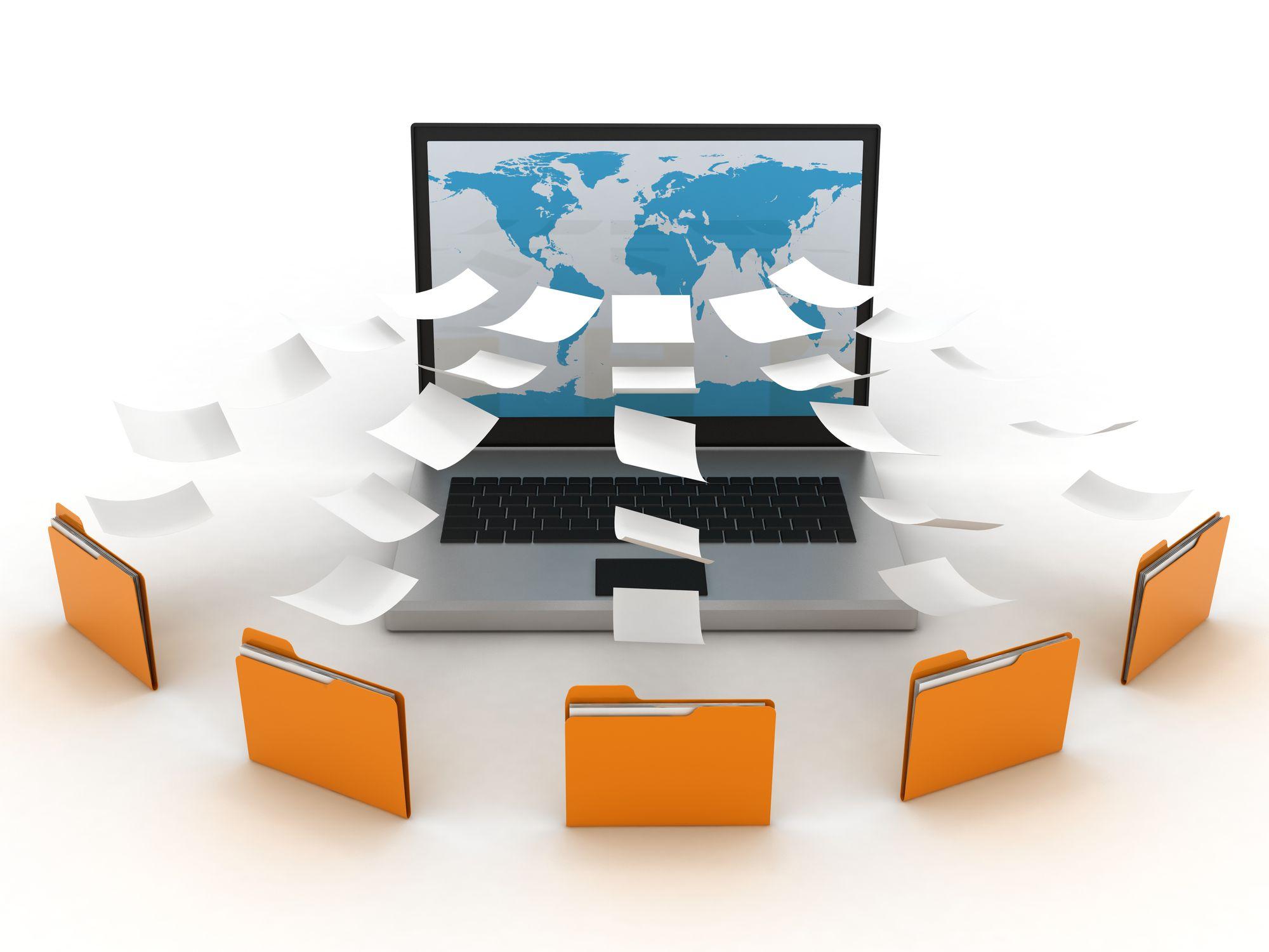 Outlook email folder system on computer