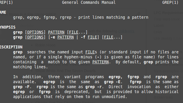 Example Uses of the Linux grep Command