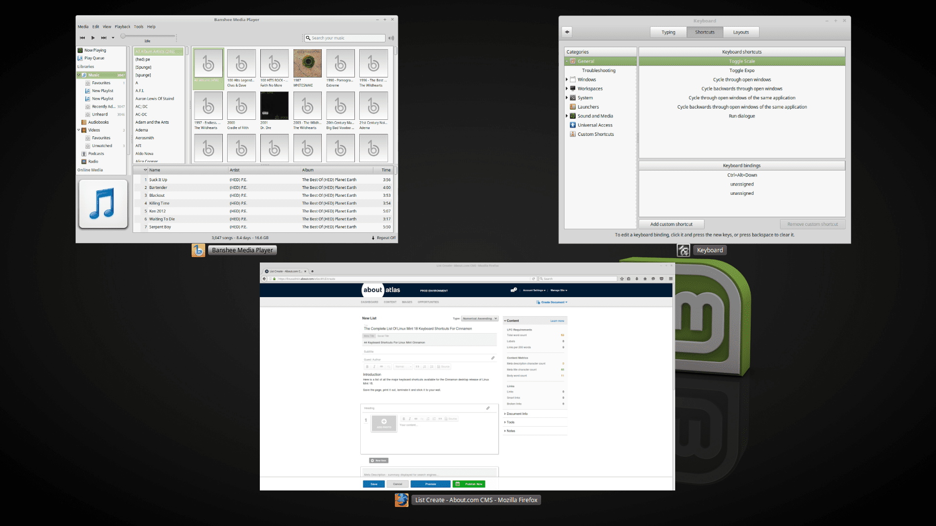 List of Linux Mint 18 Keyboard Shortcuts For Cinnamon
