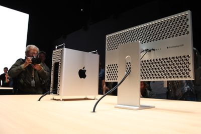 Mac Pro 2019 on a table being photographed