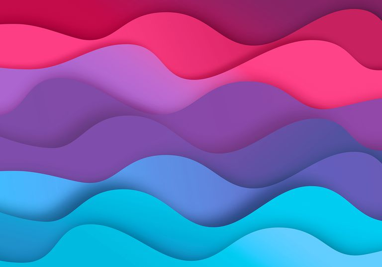 Abstract zig-zag background with paper cut shapes