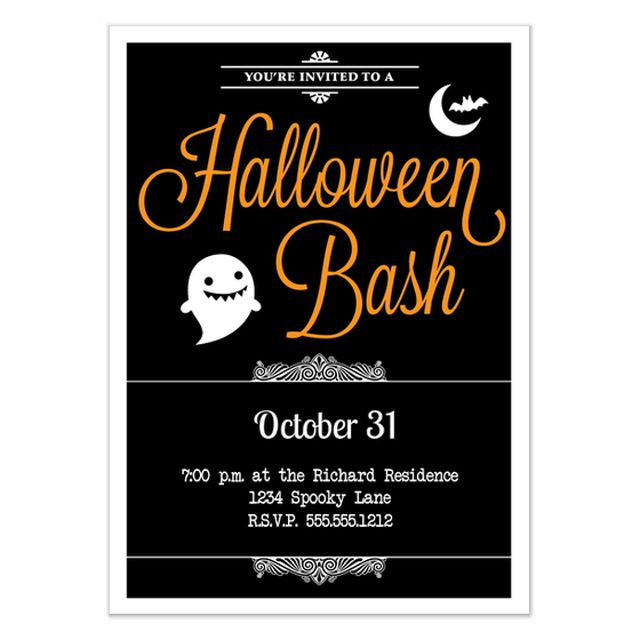 a halloween bash party invite