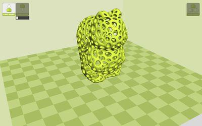 A 3D image of a Voronoi pattern.