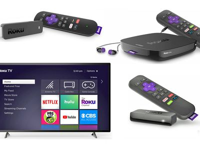 Roku Streaming Stick (TL), Ultra (TR), Roku TV (BL), Express (BR)