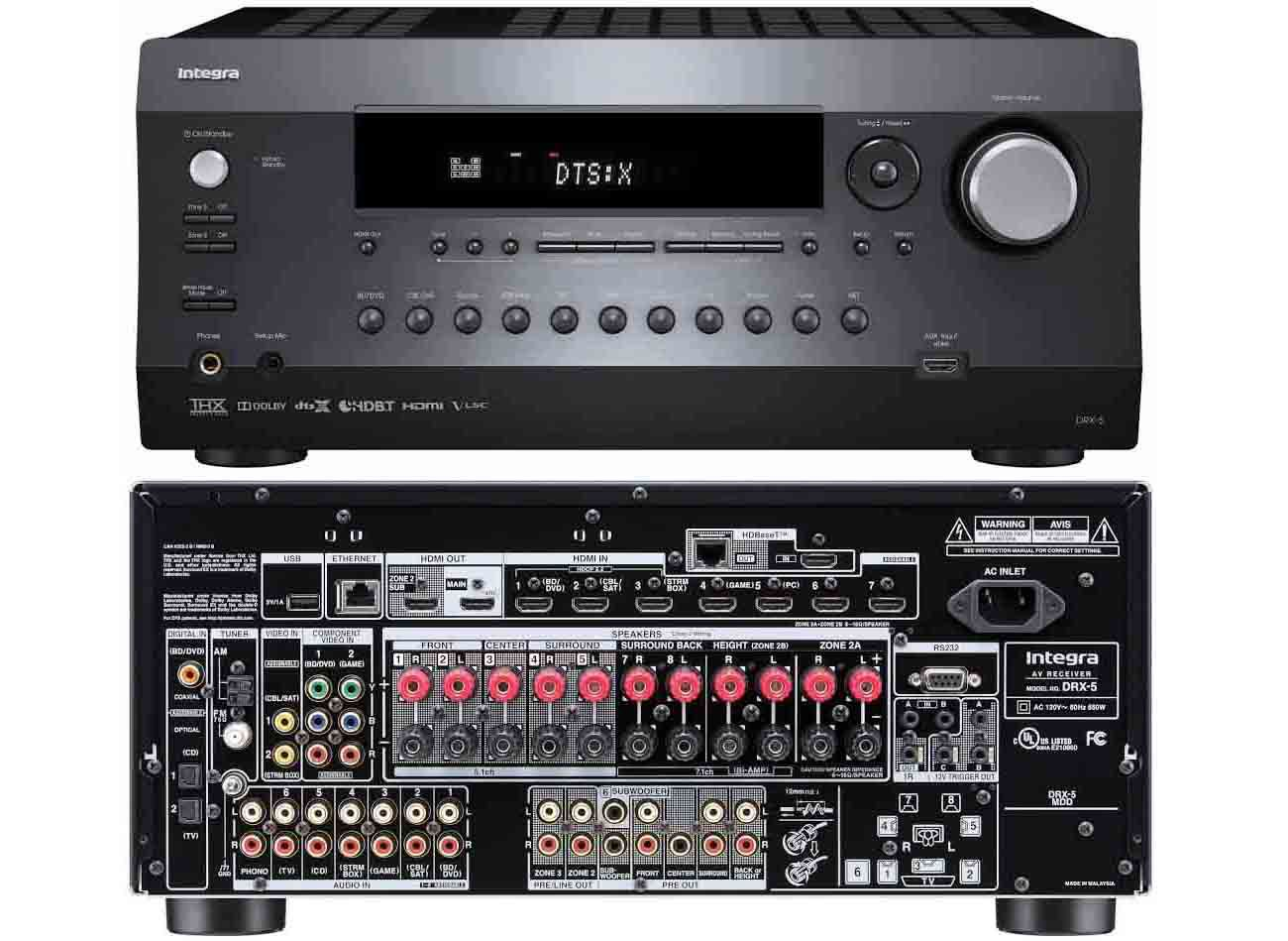 The 10 Best High End Home Theater Receivers To Buy In 2018 Power Amplifier Compatible With Tv Audio Integra Drx 5 Receiver Custom Control