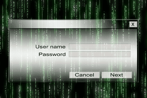 An image of logging into a network