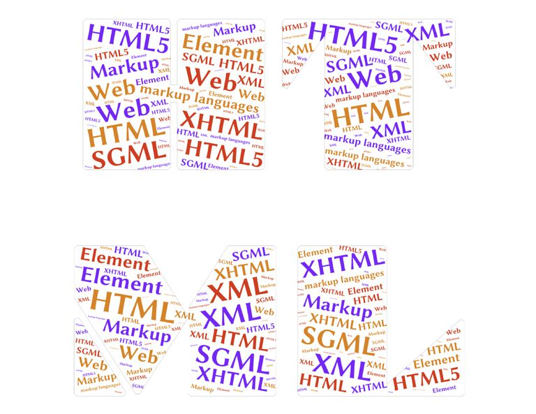 HTML letters with markup languages in the letters