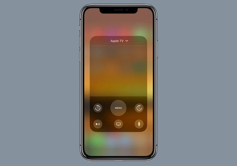 Apple TV iOS 11 Control Center