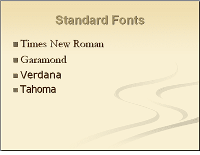 Presenter tips using fonts in powerpoint use standard fonts in powerpoint presentations toneelgroepblik Gallery