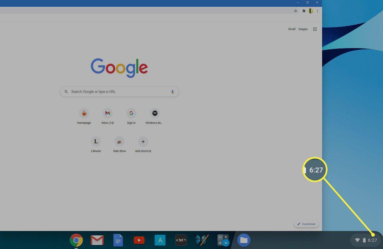 Chrome OS desktop