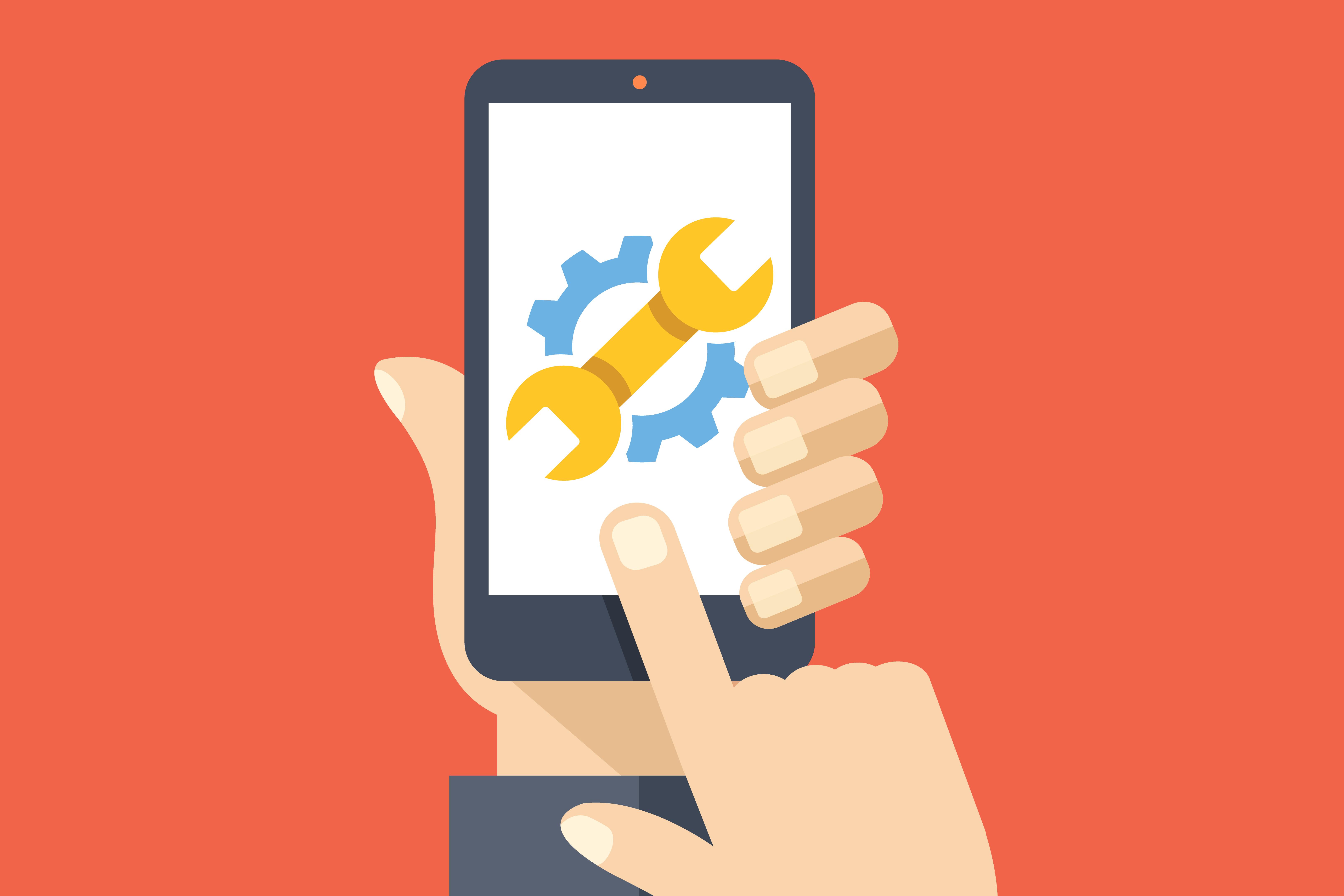 Illustration of smartphone settings.