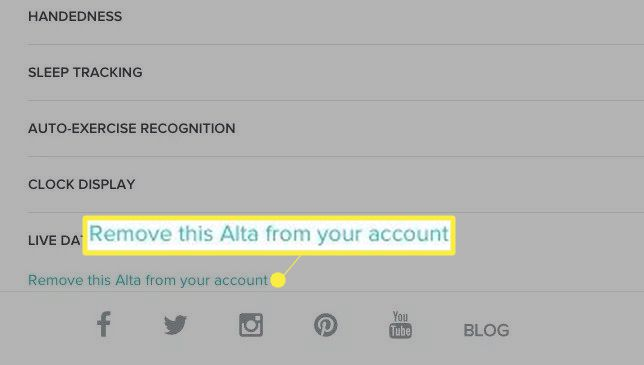 Remove this Alta from your account.