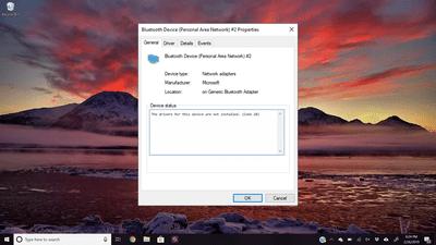 Device error Code 28 on Windows 10 desktop