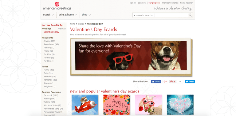 9 great sites with free valentine ecards american greetings m4hsunfo