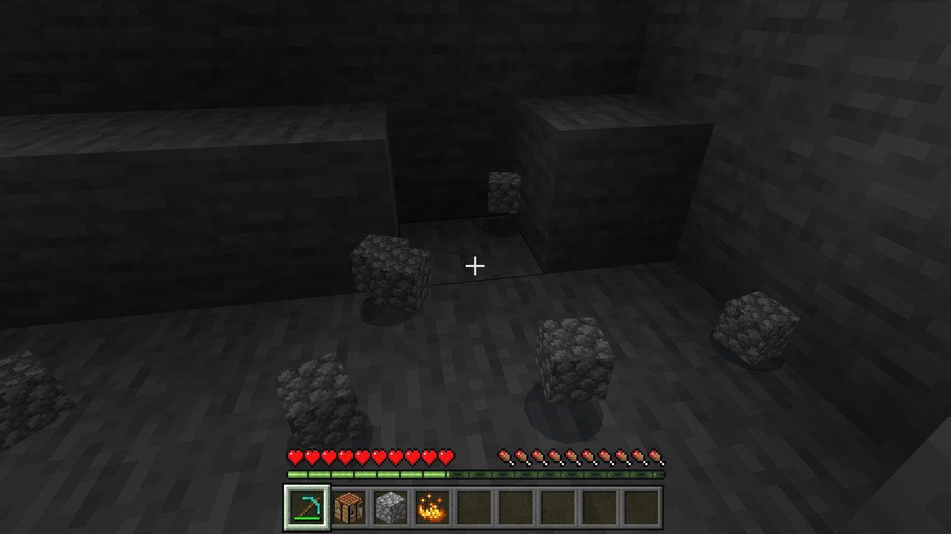 Mining Cobblestones in Minecraft