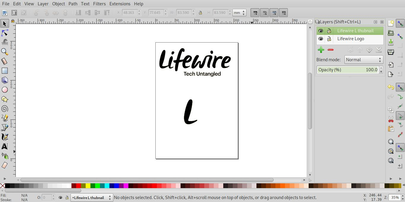 Working with the Layers Palette in Inkscape