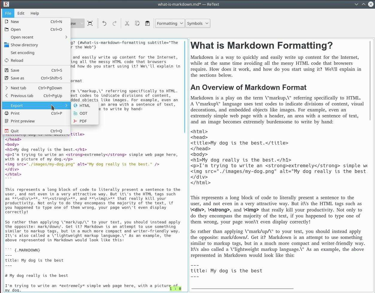 What Is Markdown Formatting?